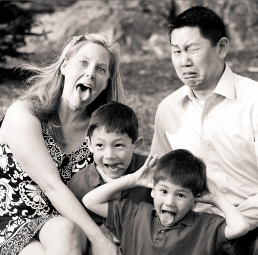 The Family Lee at our silly best