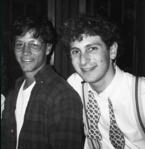 Tony and Jason at Trinity, circa 1991. Friends... with hair.
