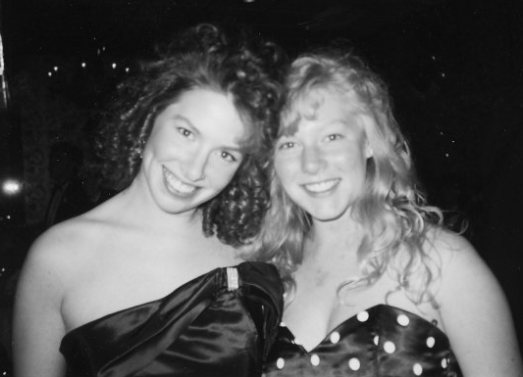 Prom 1989... me and Lisa, my BFF (split heart necklace and everything)