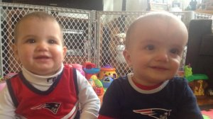 Even teeny Pats fans get hungry at the game...
