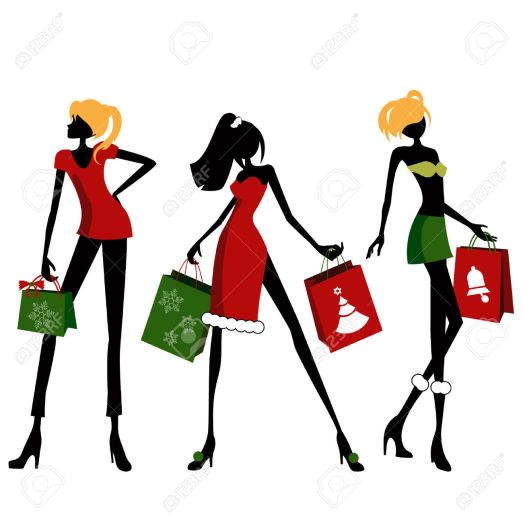 women-clipart-christmas-shopping-2